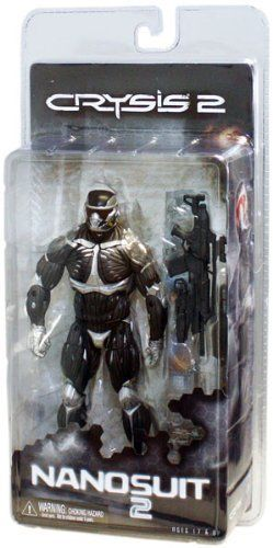 "NECA Crysis 2 "" Nanosuit"" 7"" Action Figure 1 by NECA. $20.06. From the Manufacturer                Crysis 2 "" Nanosuit"" 7"" Action Figure: Standing over 7"" tall with over 25 articulation points, the Crysis 2 Nanosuit Action Figure comes equipped with the Scar rifle. Clamshell packaging.                                    Product Description                Crysis 2 "" Nanosuit"" 7"" Action Figure: Standing over 7"" tall with over 25 articulation points, the Crysis 2 Nanosuit Act..."