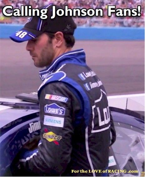 Calling Jimmie Johnson Fans! If you are a Johnson fan, please to share & show your support by clicking this link and sharing why you're a fan! http://dkconcepts.com/fortheloveofracing/driverappearances/appearance-listings-by-driver/listed-drivers-hl/jimmie-johnson#fans  #nascar #6Pack #JJ48