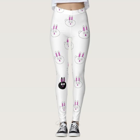 Easter Bunnies, You choose the background Leggings