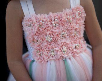 flower girl dress champagne flower girl dress от TrendyBambini