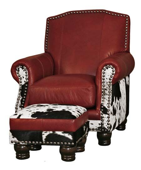 Black and White Cowhide Chair Western Accent Chairs