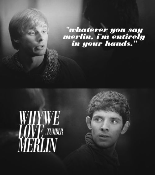 his expression. and for the record, colin morgan has never been more attractive than he was in the sword in the stone.