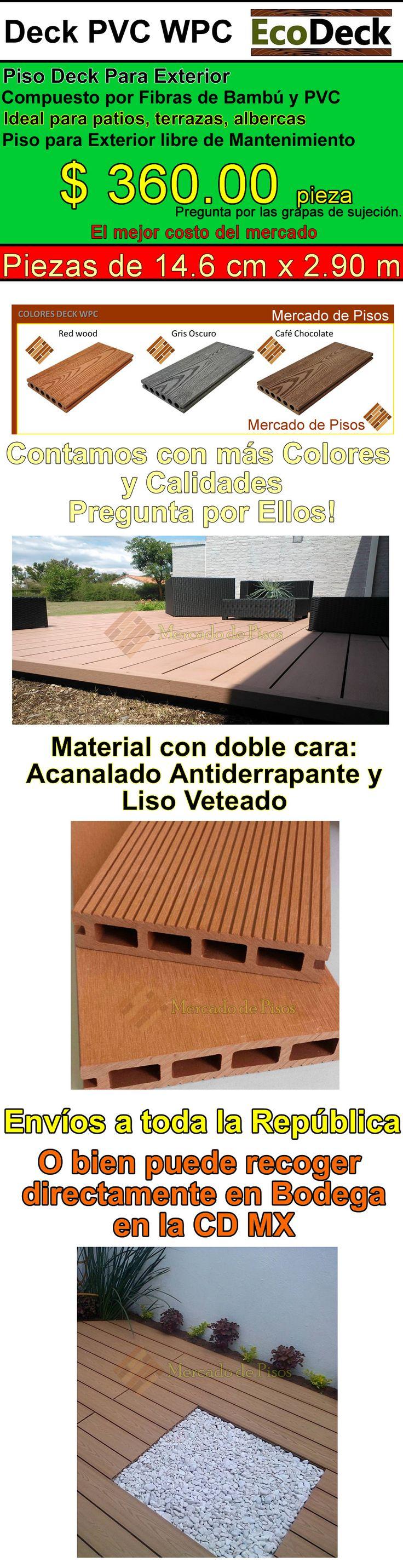 Deck Pvc Wpc Bambu Exterior Libre De Mantenimiento - $ 365.00 en Mercado Libre