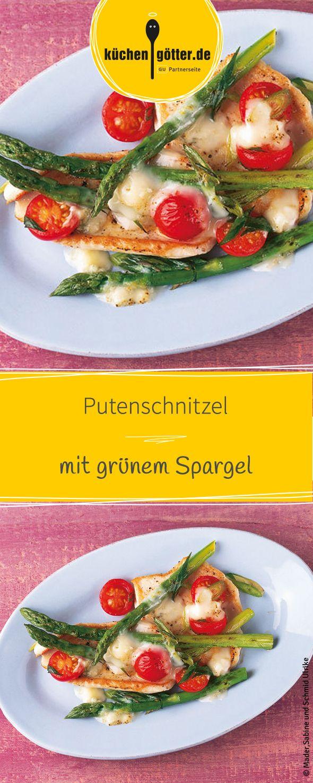 Herzhaftes Putenschnitzel mit würzigen Gorgonzola und knackigem Spargel. Weitere Rezepteidden mit Spargel findet ihr bei uns!
