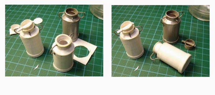 Matériel :   Un tube de Ø 22 mm environ (tube de médicament, tringle...)      Papier bristol      Fil d'étain     Dans du papier ...