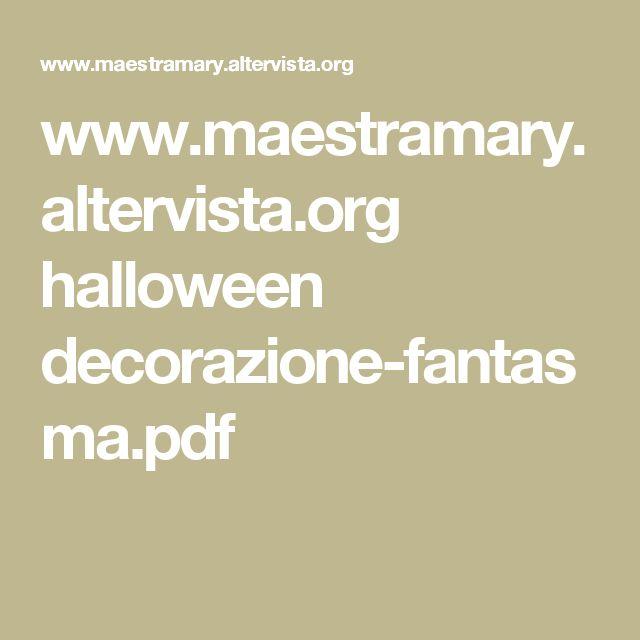 www.maestramary.altervista.org halloween decorazione-fantasma.pdf
