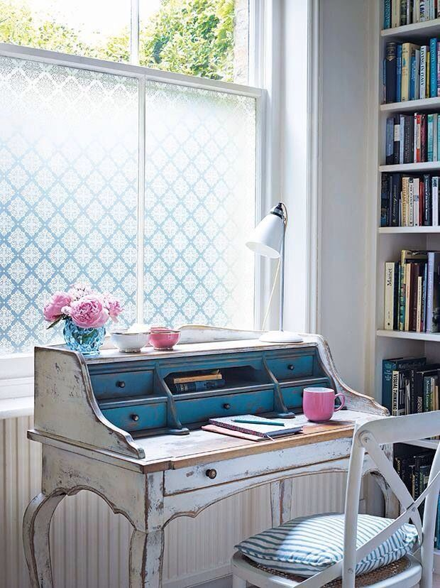 Cute Home Office Painted Antique Desk
