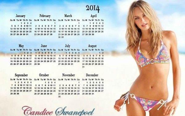Happy new year 2014 calendar victoria 39 s secret model candice swanepoel new year 2016 - Mannequin victoria secret 2016 ...