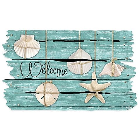 The Masterpiece Seashell Door Mat is made of recycled materials and is the perfect way to decorate your beach house or add a touch of the shore to your home.