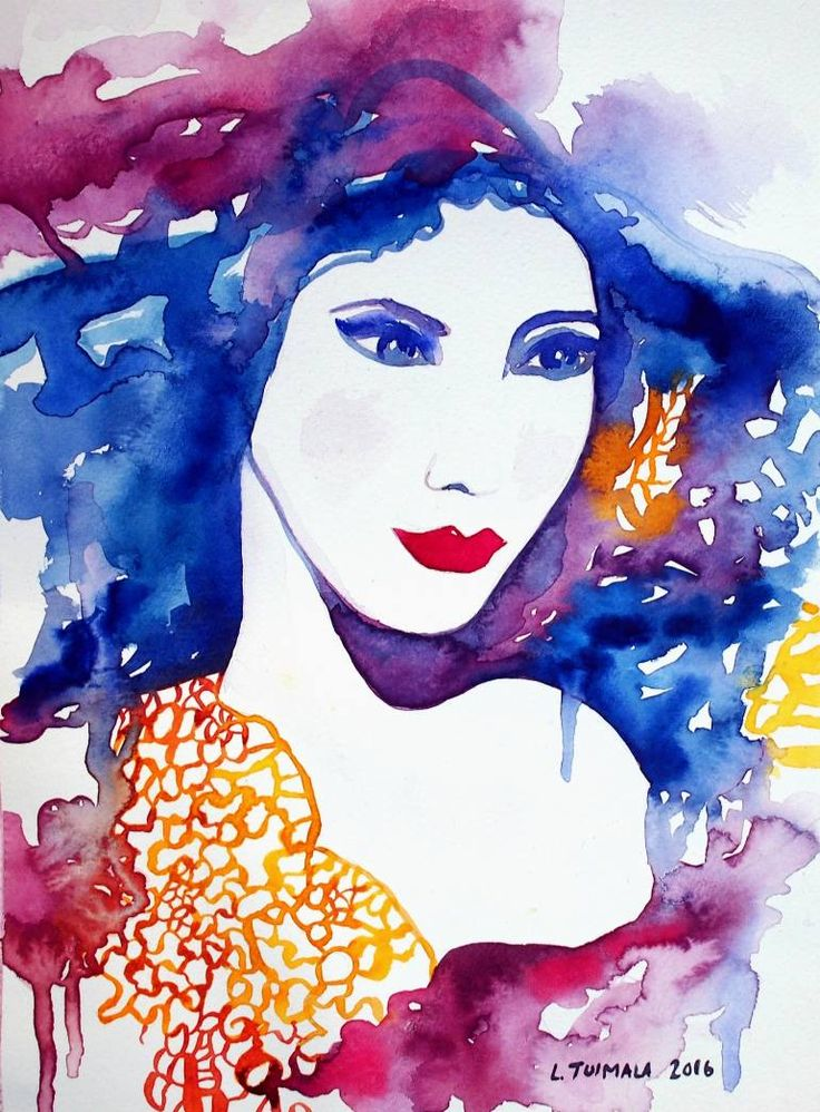 $195 USD  Original watercolor painting by Liisa Tuimala. http://www.liisatuimala.com #watercolor #fashion
