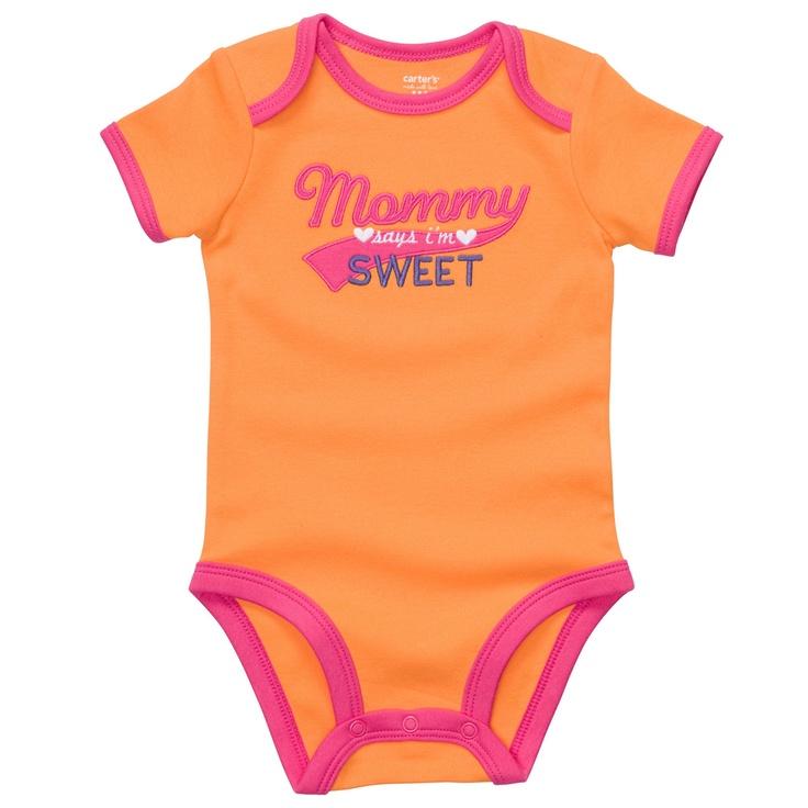 mommy says i'm sweet. #cartersBaby Blue, Sleeve Slogans, Baby Baby, Miranda Baby, Baby Girls, Slogans Bodysuit, Shorts Sleeve, Baby Clothing, Baby Stuff