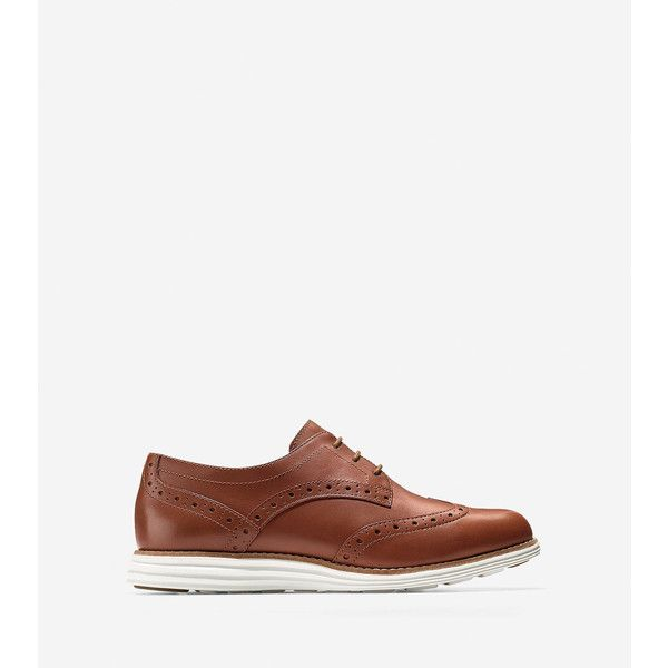 Cole Haan Womens OriginalGrand Wingtip Oxford Shoes ($200) ❤ liked on  Polyvore featuring shoes