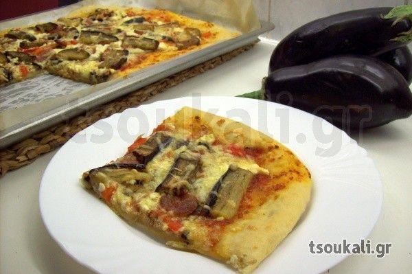 ΠΙΤΣΑ ΣΠΕΤΣΟΦΑΙ - Ιδανική πίτσα για τους λάτρεις της μελιτζάνας - www.tsoukali.gr  ΕΛΛΗΝΙΚΕΣ ΣΥΝΤΑΓΕΣ ΑΡΘΡΑ ΜΑΓΕΙΡΙΚΗΣ