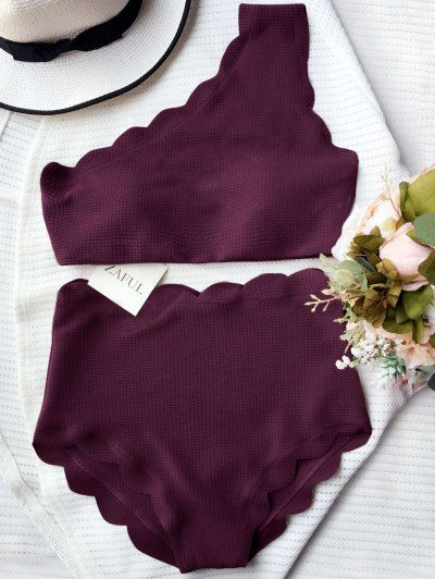 GET $50 NOW | Join Zaful: Get YOUR $50 NOW!http://m.zaful.com/high-waisted-scalloped-one-shoulder-bikini-p_268687.html?seid=ejgfknsjeahric4p4isv0piql5zf268687