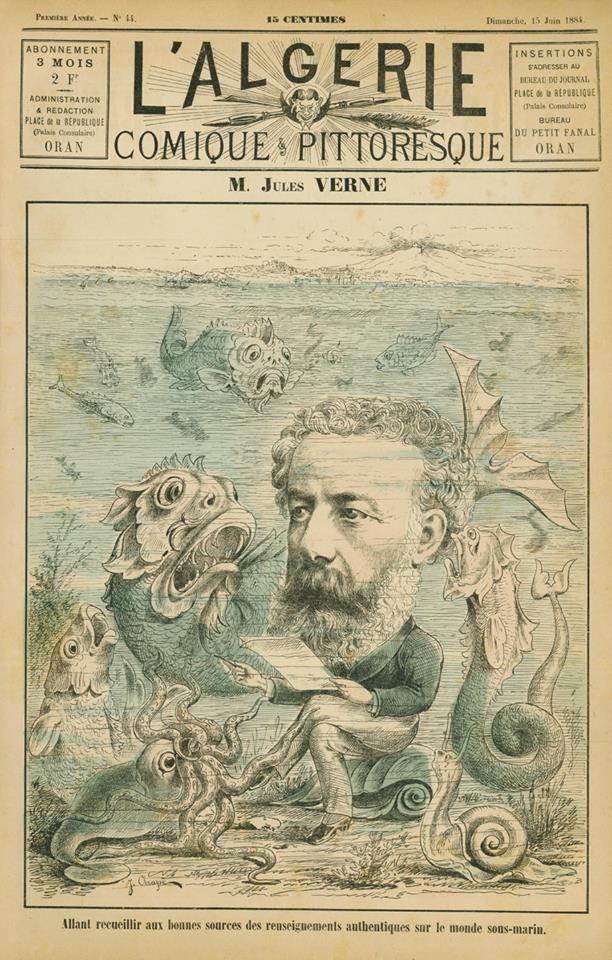 1884 Revue L'Algérie Comique et Pittoresque. Place de la République Oran