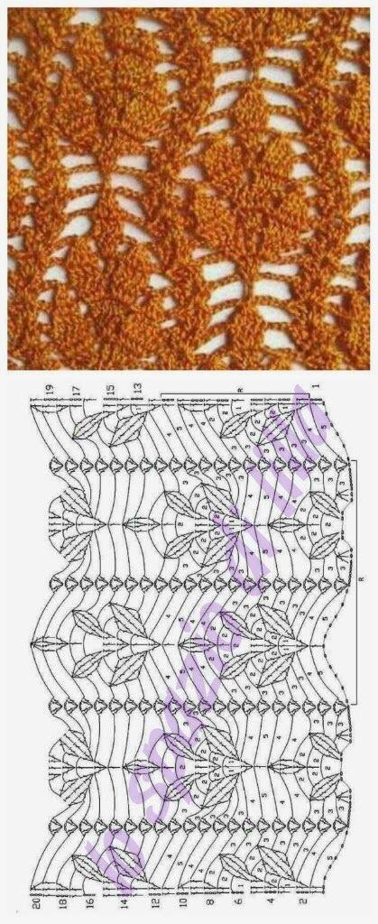 Punti all'uncinetto con schemi / Crochet stitches charts (lo spazio di lilla)