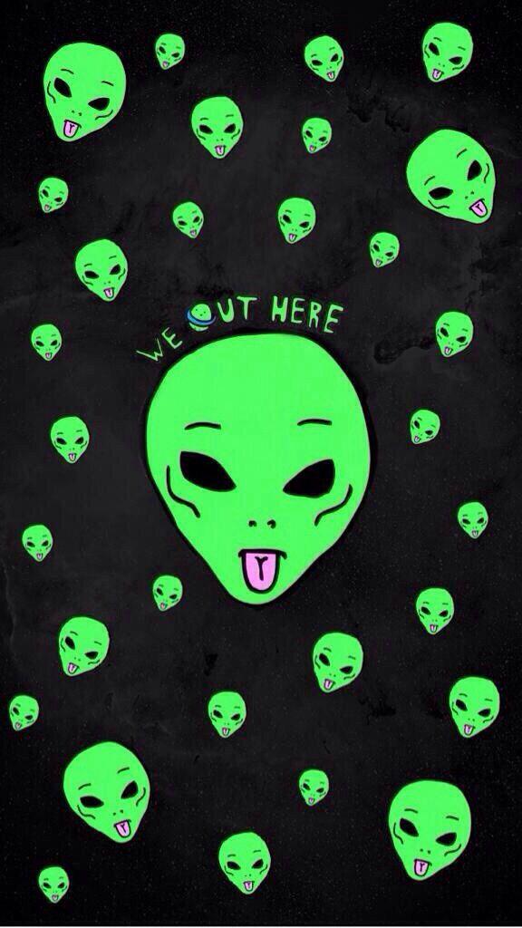 Alien wallpaper Wallpapers Pinterest Aliens, iPhone