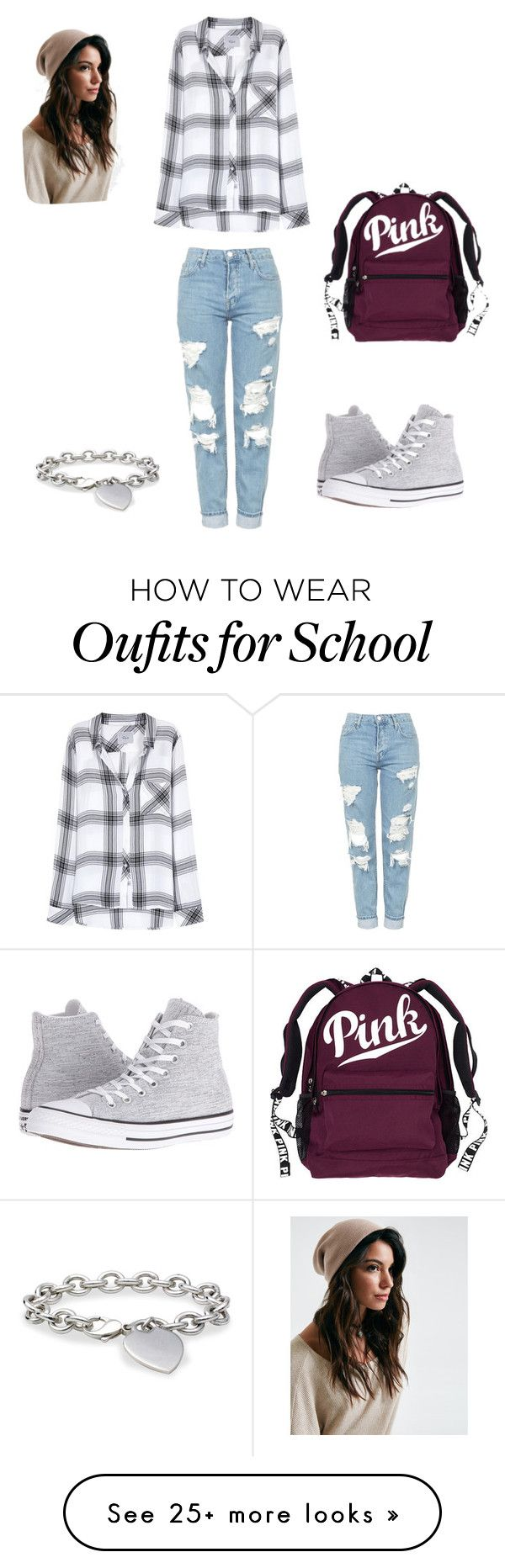 """Lazy School Day"" by ryleecox50 on Polyvore featuring Blue Nile, Topshop, Rails and Converse"