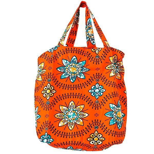 マリ 巾着 エコバッグ(オレンジの花)