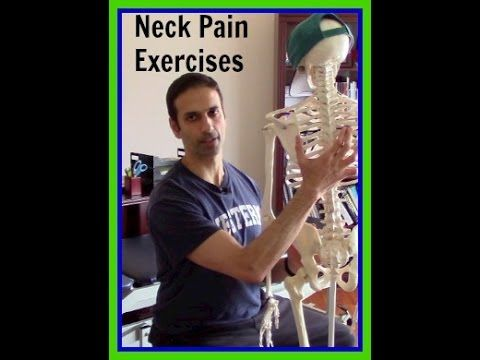 Physical Therapy video: Exercises for neck pain: wall angels
