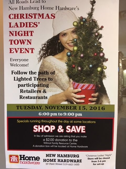 Join us on Tuesday November 15,2016 for LADIES NIGHT! Enter to win a $150 Gift Certificate!