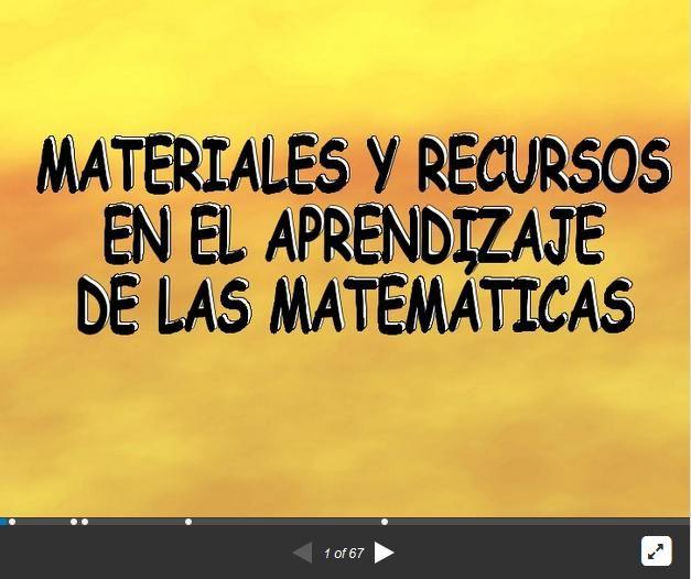 Aprendiendo Matemáticas - Recursos y Materiales Didácticos | #Presentación #Educación