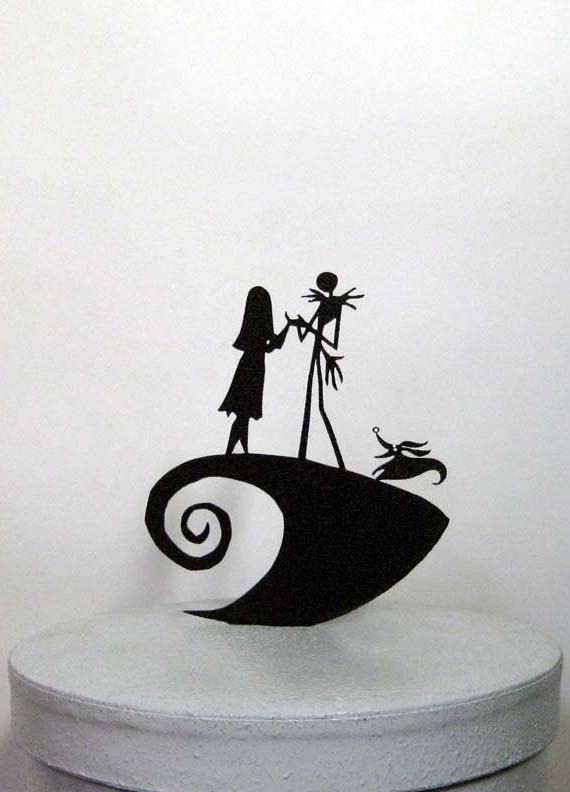 Nightmare Before Christmas Wedding Cake Topper