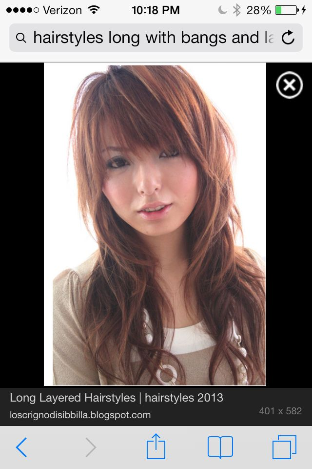Long layers with bangs | Hair cuts and colors | Pinterest