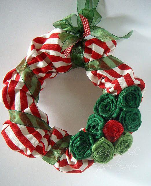 Manualidades coronas navide as para puertas navide a - Coronas de navidad para puertas ...