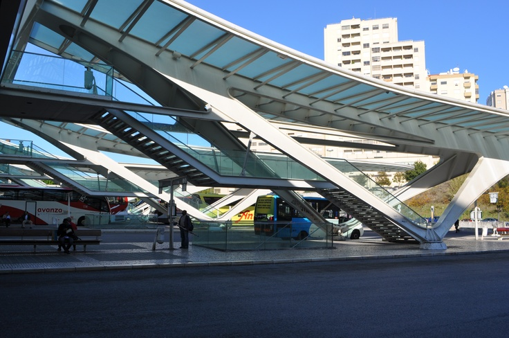 Lisbon Train/Bus Station - bus canopies  photo by Jeff DuBro
