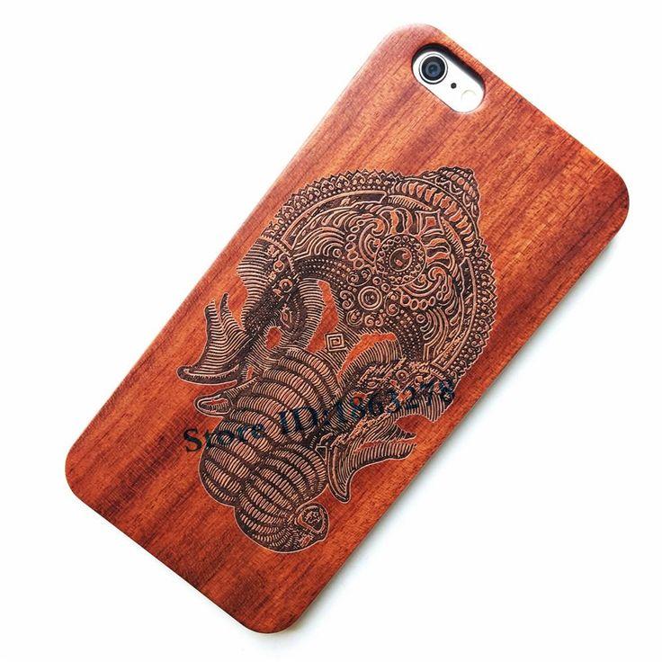 Elephant Ganesha God Wooden Hand Carved Phone Case For Iphones - Kaptelli Store
