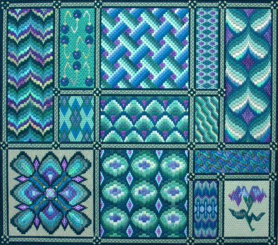 Carolyn Mitchell Designs - Florentine Dreams.-- needlepoint -- bargello -- http://www.mrstwitchett.mb.ca/designs.htm