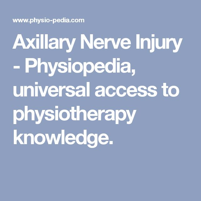 Axillary Nerve Injury - Physiopedia, universal access to physiotherapy knowledge.