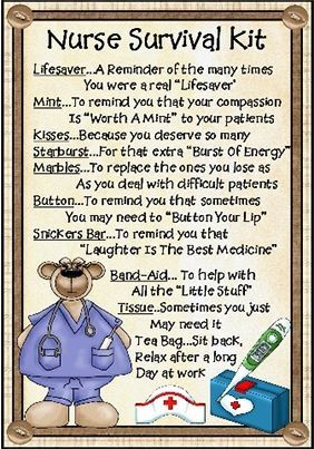 Nurses kit Might but these together as Christmas presents for my nurses and fellow aides.