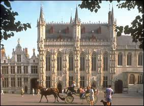 sight-seeing Bruges in a carriage