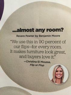 HGTV magazine | BM Revere Pewter for Flip or Flop More