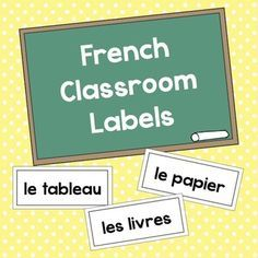FREE! Black & White French Classroom Labels