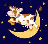 Illustrating Nursery Rhymes - The Cow Jumps over the Moon