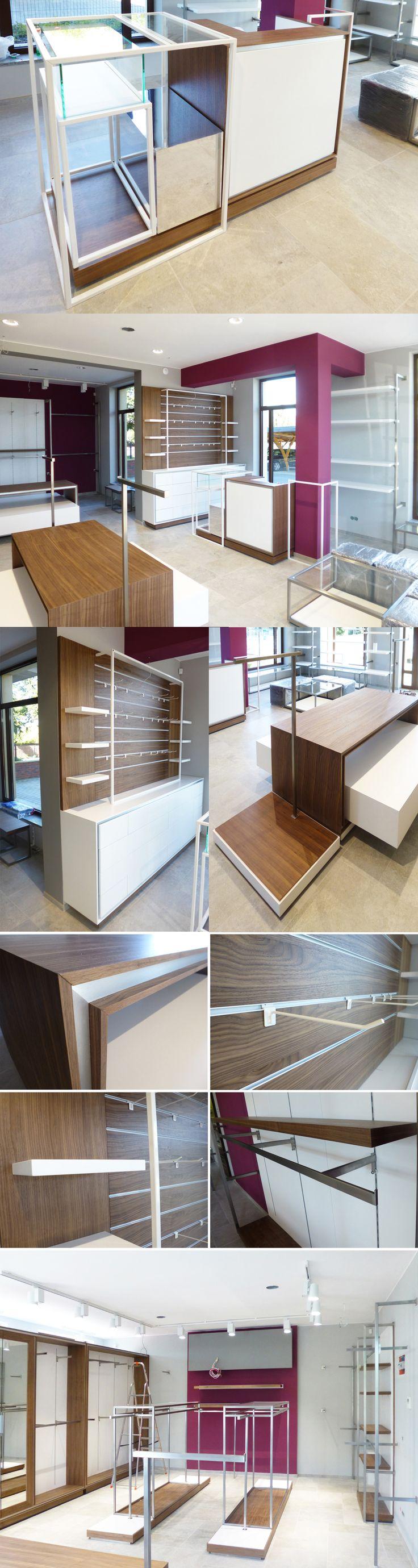 Projekt i wyposazenie sklepu z odzieżą w Oleśnicy / Shop design and equipment in Olesnica  www.debowskidesign.com
