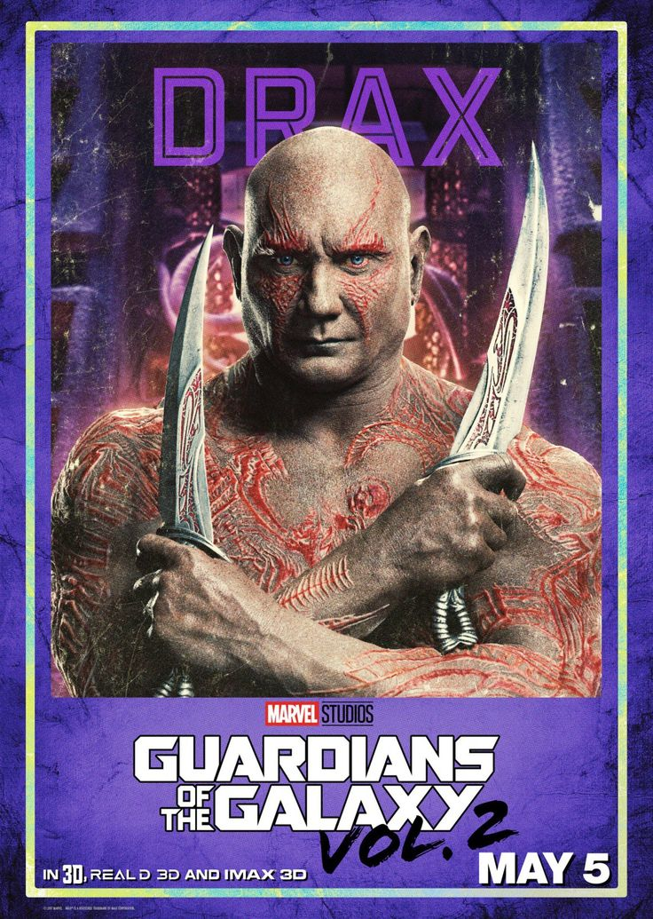 Poster Dave Bautista - Guardians of the Galaxy 2