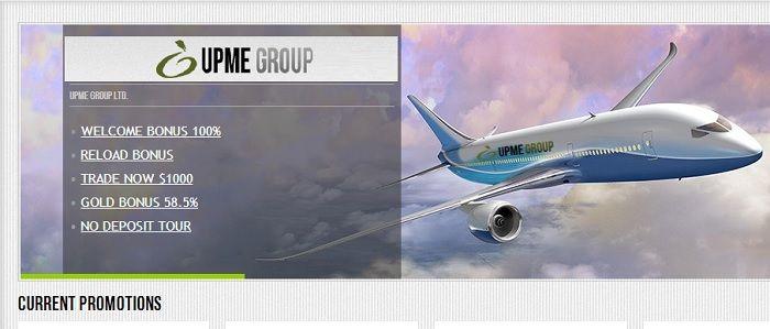 UPME  14 USD No deposit tour with UPME Group LTD