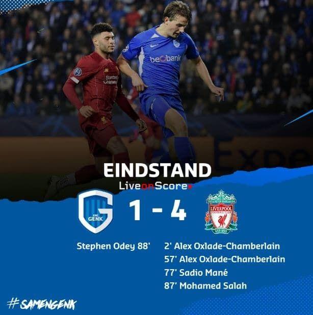 Genk 1 4 Liverpool Full Highlight Video Uefa Champions League Allsportsnews Football Highlightvideos U Uefa Champions League Champions League Liverpool