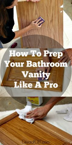 Prep your vanity like a pro with this cheap bathroom makeover on a budget! These prepping tips will give you the base to paint like a pro without hiring one