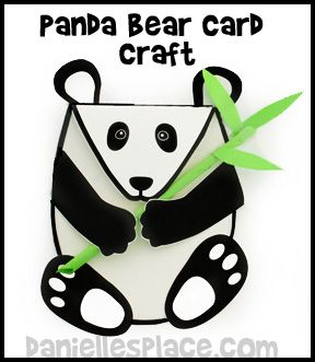 Panda Bear Card Craft www.daniellesplace.com