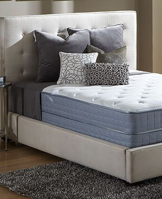 Need a guest room bed || Serta Perfect Sleeper Pleasant Bay Tight Top Plush Queen Mattress Set - mattresses - Macy's