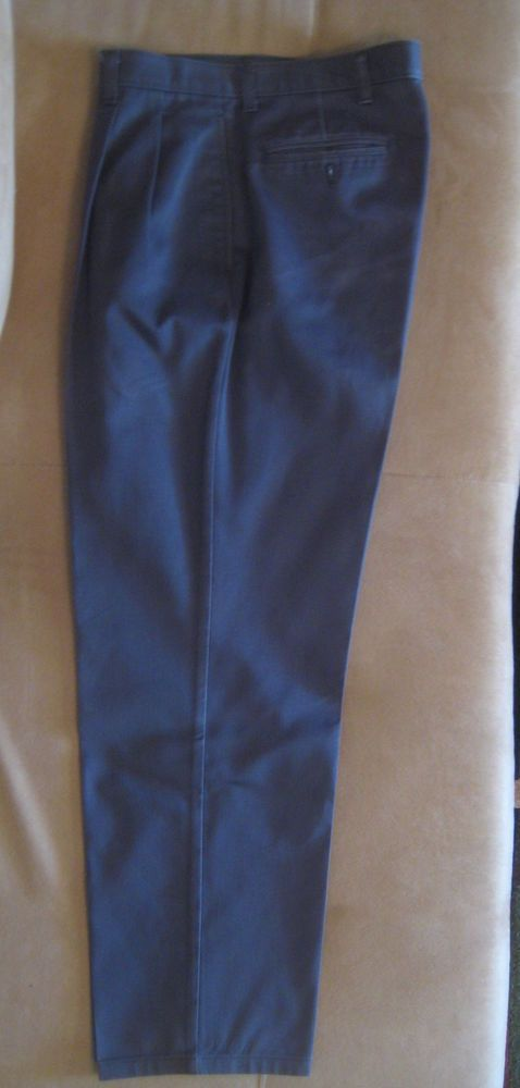 56271a8d1c Austin Clothing Co Men s Casual Navy Blue Chino-Style Pants Size W32 x L30