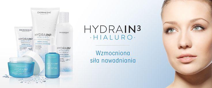 Dermokosmetyki Dermedic z serii HYDRA IN3 to kompletna linia nawilżająca do stosowania w pielęgnacji nawadniającej skóry odwodnionej bądź suchej.
