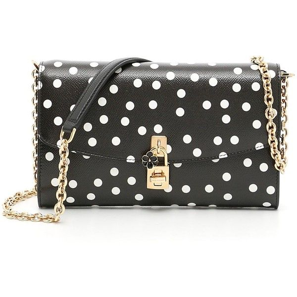 Polka Dots Dolce Clutch (€775) ❤ liked on Polyvore featuring bags, handbags, clutches, dolce gabbana handbags, polka dot handbags, dolce gabbana purses and polka dot purse