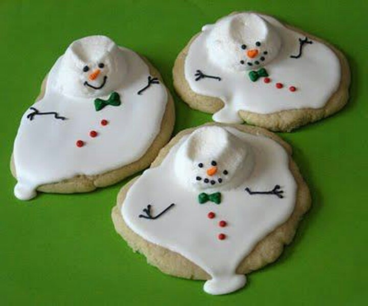 Melting snowmen cookies. Too cute!