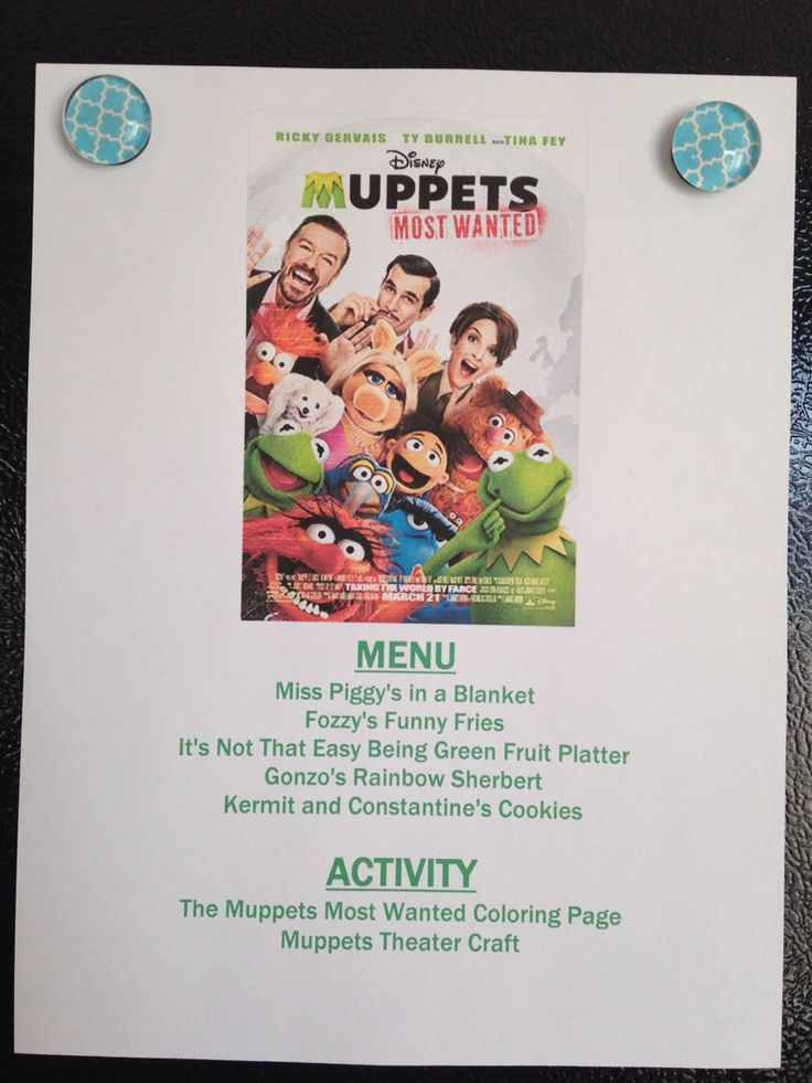 Muppets Most Wanted Menu - Muppets Most Wanted Movie Night - Disney Movie Night - Family Movie Night